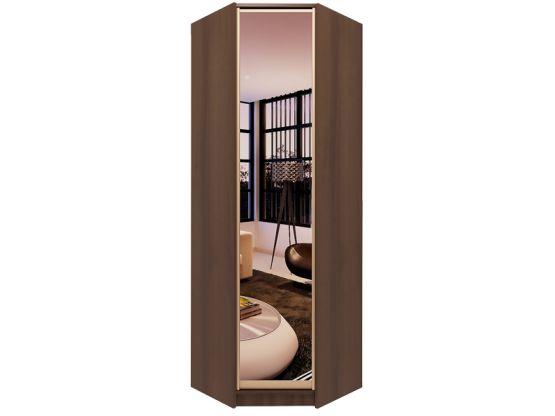 Угловой однодверный шкаф с распашной дверью и зеркалом шу-2-.